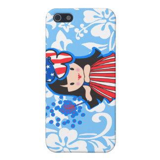 Hula Americana Hula Girl Patriotic iPhone 5 Cases