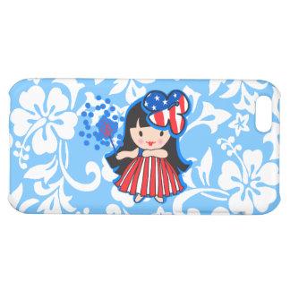 Hula Americana Hula Girl Patriotic iPhone 5C Cases