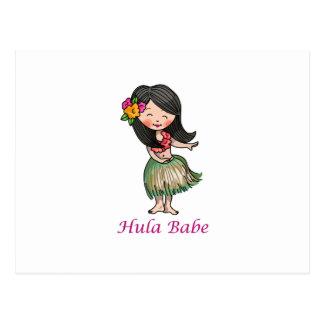Hula Babe Postcard