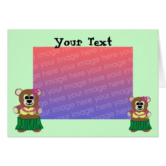 Hula bear template card