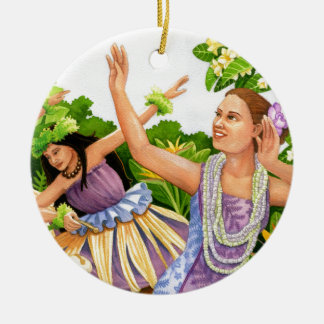 Hula Ceramic Ornament