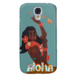 Hula Dancer Aloha by Island Map Samsung Galaxy S4 Cases
