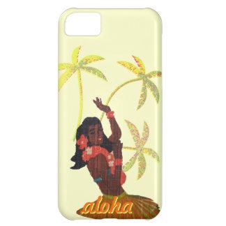 Hula Dancer Aloha Hawaii Map & Palm Trees Cover For iPhone 5C