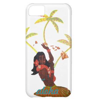 Hula Dancer Aloha Hawaii Map & Palm Trees iPhone 5C Cover