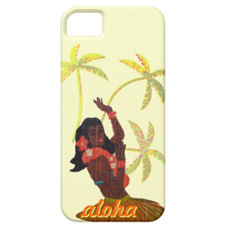 Hula Dancer Aloha Hawaii Map & Palm Trees iPhone SE/5/5s Case