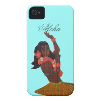 Hula Dancer Aloha Seafoam green iPhone 4 Case
