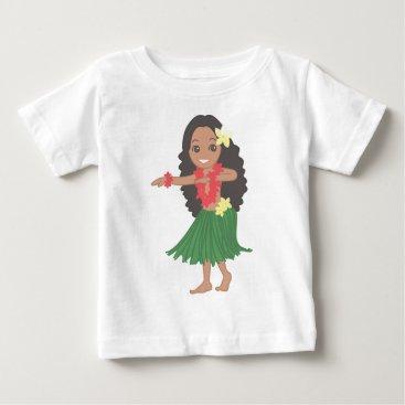 Hawaiian Themed Hula Dancer Baby T-Shirt