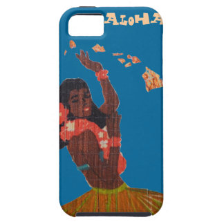 Hula Dancer Hawaiian Islands Map iPhone SE/5/5s Case