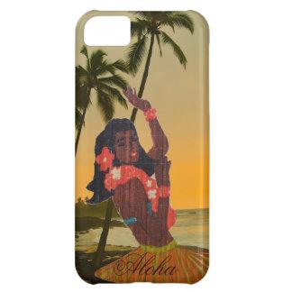 Hula Dancer on Hawaiian Beach iPhone 5C Cover