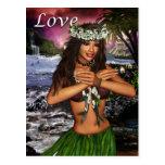 Hula Dancer Post Card