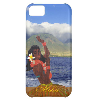 Hula Dancer with Maui Coastline Photo Cover For iPhone 5C