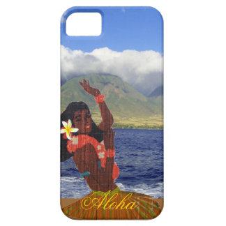 Hula Dancer with Maui Coastline Photo iPhone SE/5/5s Case