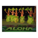 Hula dancers postcard