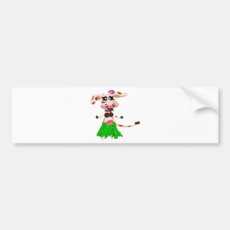Hula Dancing cow Bumper Sticker