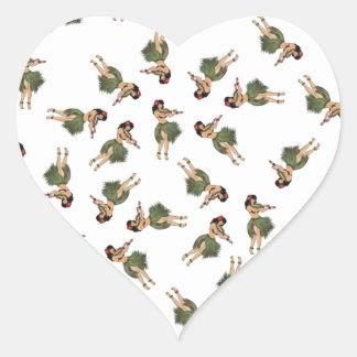 Hula Dancing Heart Sticker