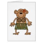 Hula Dancing Monkey Tshirts and Gifts Cards