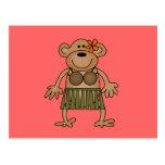 Hula Dancing Monkey Tshirts and Gifts Post Cards