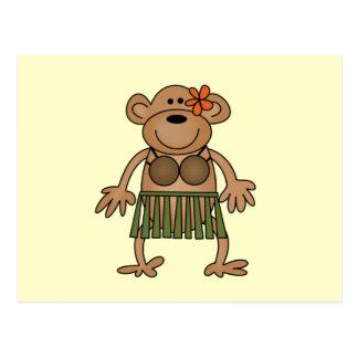 Hula Dancing Monkey Tshirts and Gifts Postcard