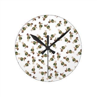 Hula Dancing Round Clock