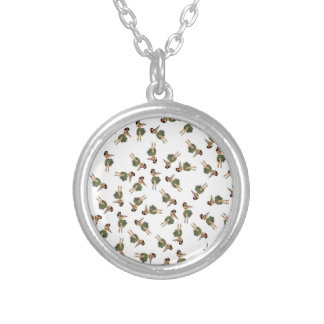 Hula Dancing Silver Plated Necklace