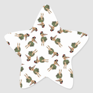 Hula Dancing Star Sticker