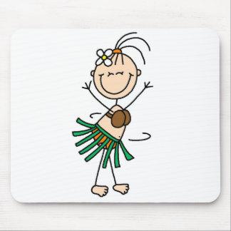 Hula Dancing Stick Figure Mousepad