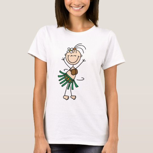 Hula Dancing Stick Figure T-Shirt