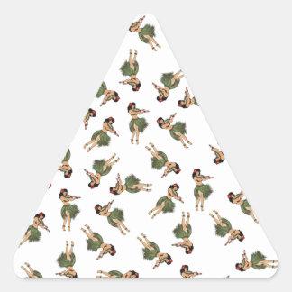 Hula Dancing Triangle Sticker