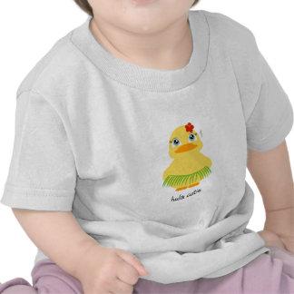hula ducky BIRTHDAY GIRLY gift shirt