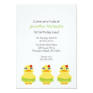 hula ducky BIRTHDAY PARTY invitation