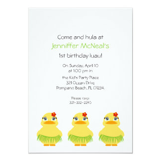 hula ducky BIRTHDAY PARTY invitation