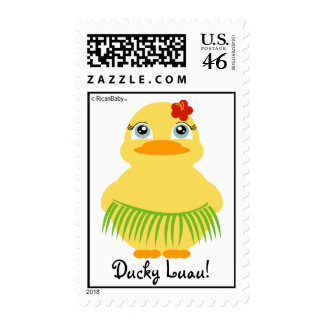 hula ducky BIRTHDAY PARTY stamp