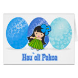 Hula Girl Easter Egg Cards