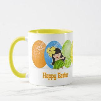 Hula Girl Easter Egg Mugs