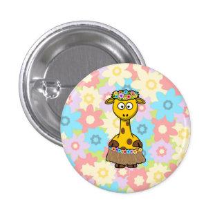 Hula Girl Giraffe Buttons