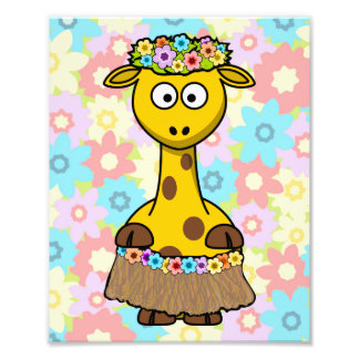 Hula Girl Giraffe Photo Print
