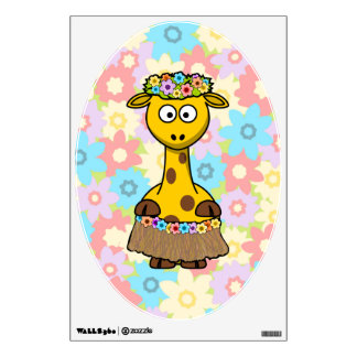 Hula Girl Giraffe Wall Graphics