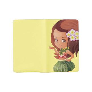 Hula girl large moleskine notebook