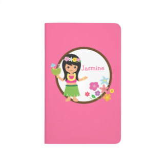Hula Girl Luau Themed Party Favors Journal