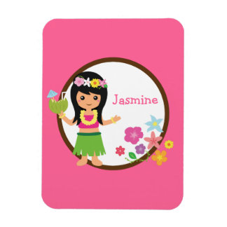 Hula Girl Luau Themed Party Favors Magnet