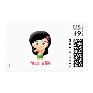Hula Girl Postage