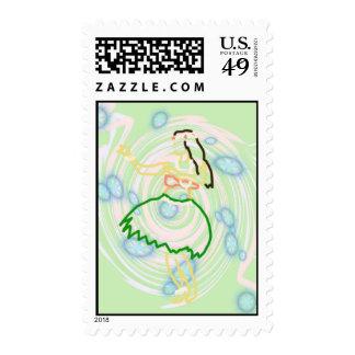 Hula Girl Postage (Hawaiian Style Stamp)