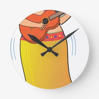 Hula Girl Round Clock