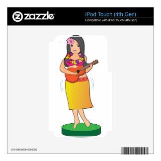 Hula Girl iPod Touch 4G Decal