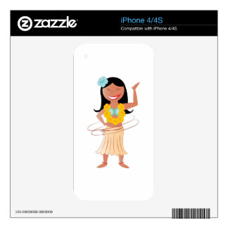 Hula Girl Skins For iPhone 4S