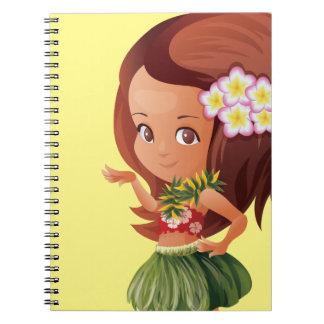 Hula girl spiral notebook
