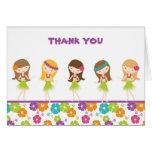 Hula Girl Thank You Carl Stationery Note Card