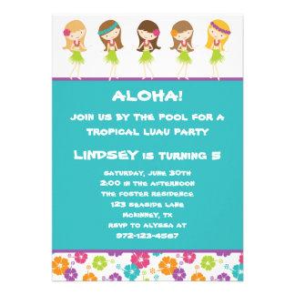Hula Girls Invitation Custom Invitations