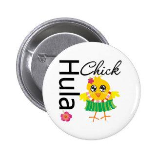 Hula Hawaii Chick Buttons