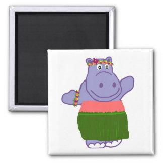 Hula Hippo magnet